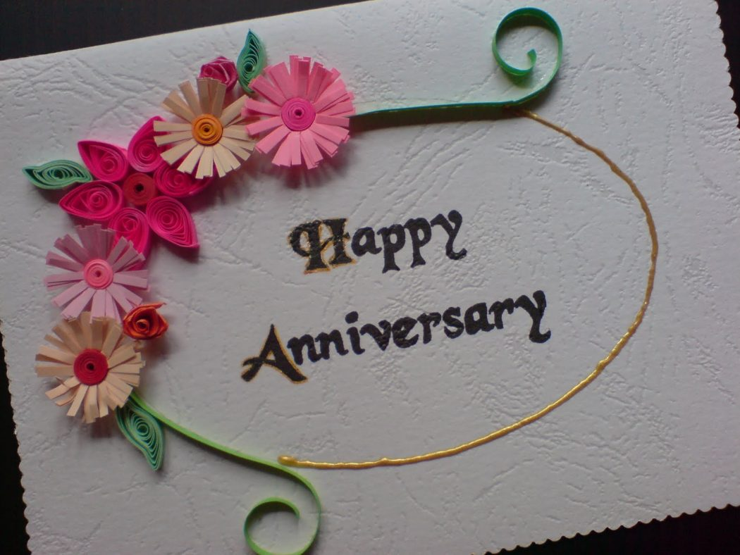 Anniversary greeting cards for your lover parents or partner