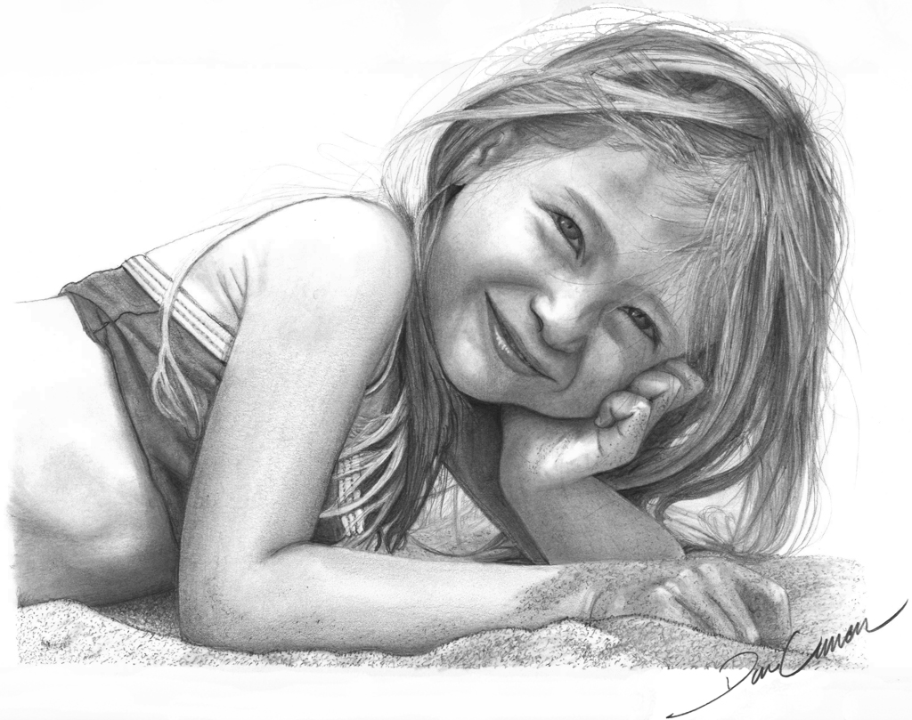 Drawing_Girl_on_Beach Stunningly And Incredibly Realistic Pencil Portraits