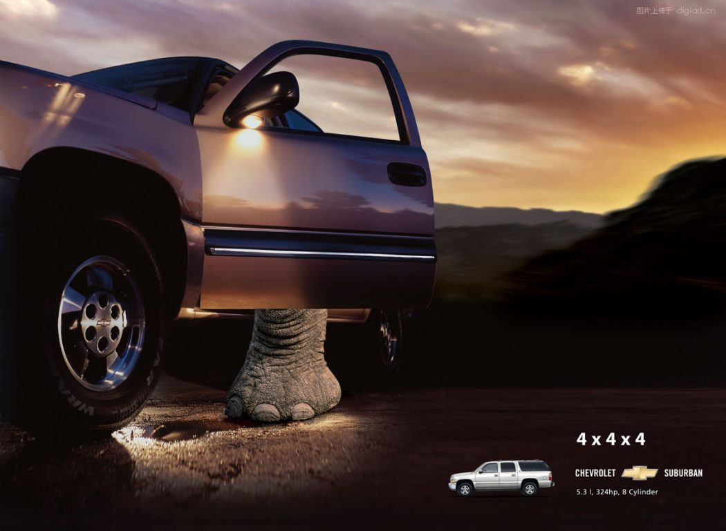 Elephant-Driver-o 40 Most Creative and Dazzling Auto Ads
