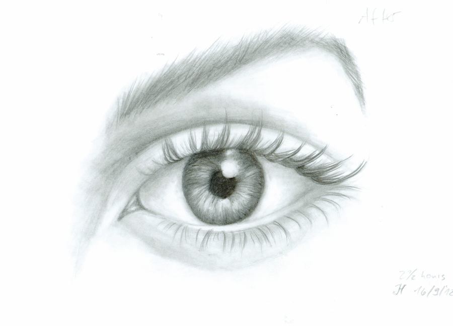 Eye-drawing-by-Jana Stunningly And Incredibly Realistic Pencil Portraits