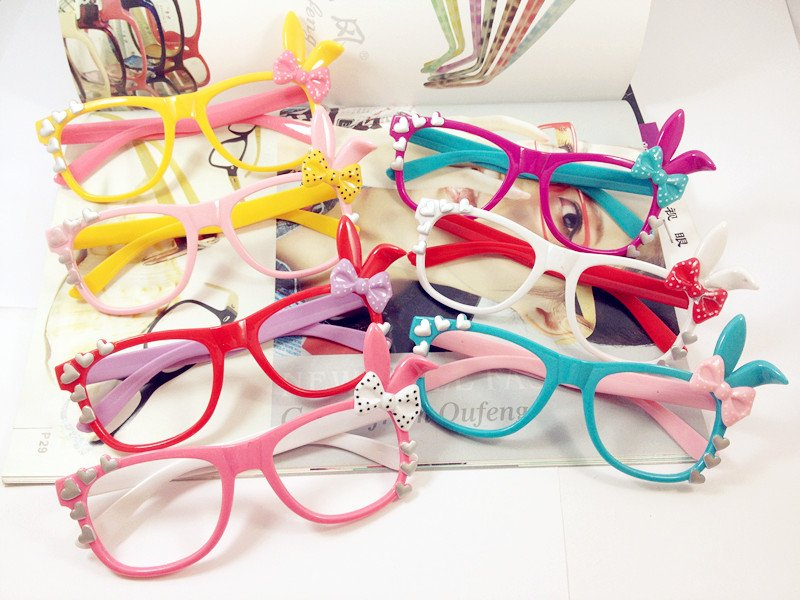 Free-shipping-Wholesale-Fashion-lovely-rabbit-glasses-colourful-without-lenses-for-children How Do You Find These Unusual Glasses ?