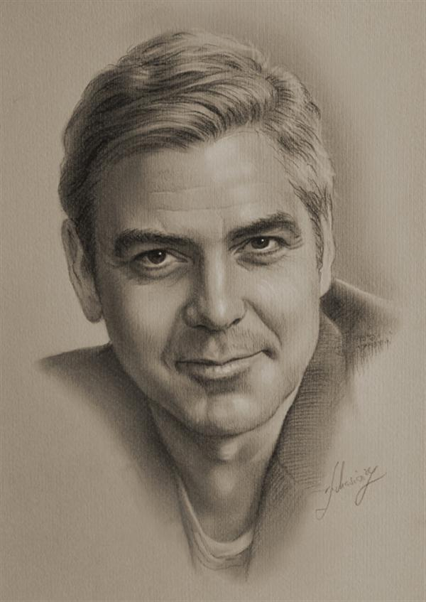 George-Clooney Stunningly And Incredibly Realistic Pencil Portraits