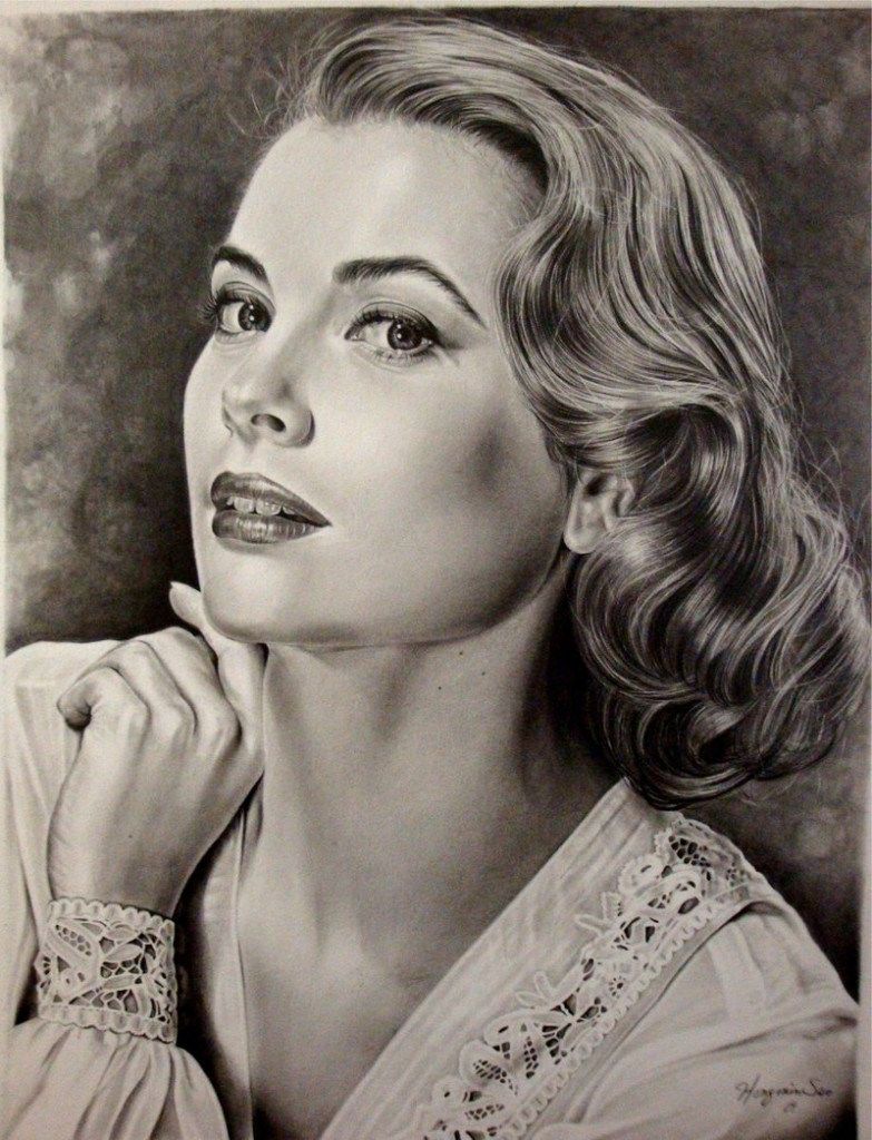 Grace_Kelly_golden_era_10th_by_Hongmin-783x1024 Stunningly And Incredibly Realistic Pencil Portraits