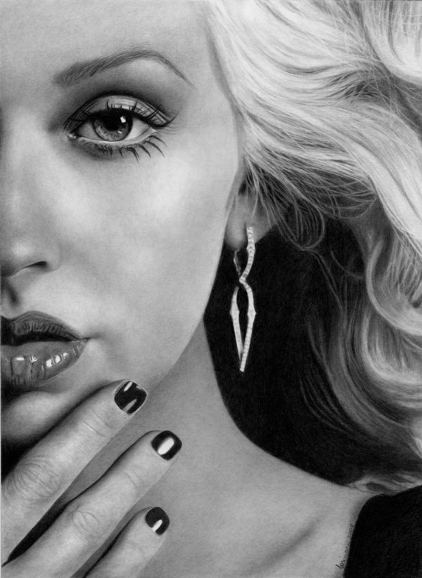 Half_of_you_by_Esteljf Stunningly And Incredibly Realistic Pencil Portraits
