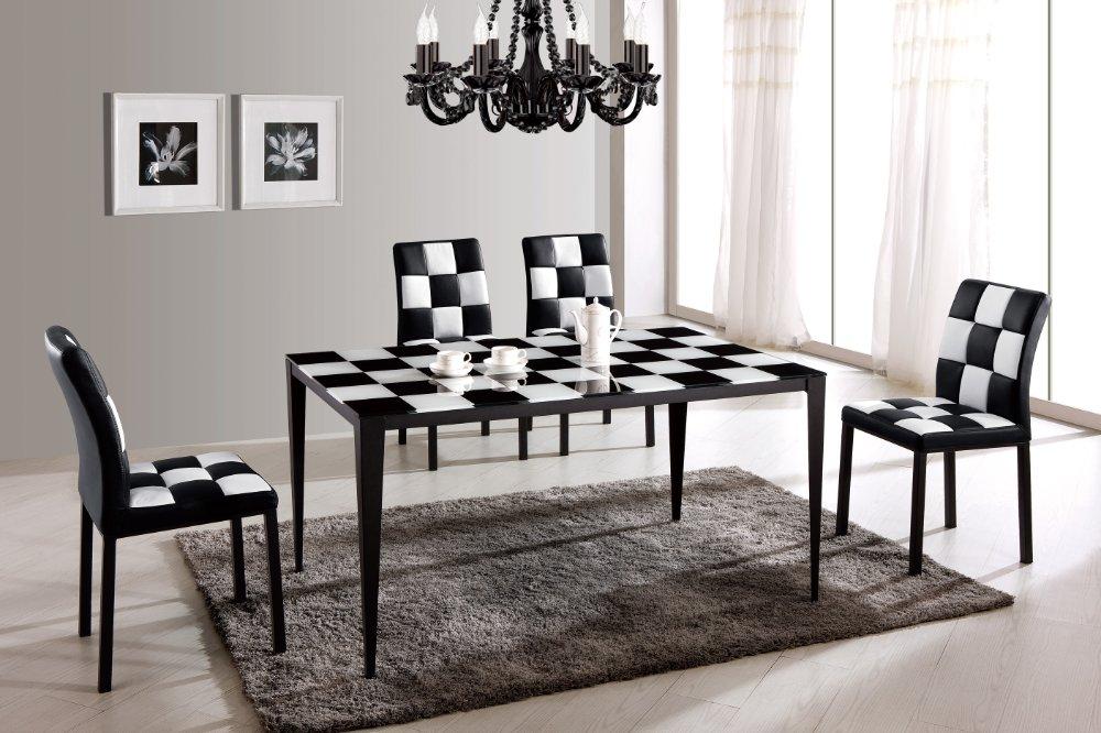 25 elegant black and white dining room designs pouted for Black and white dining room ideas