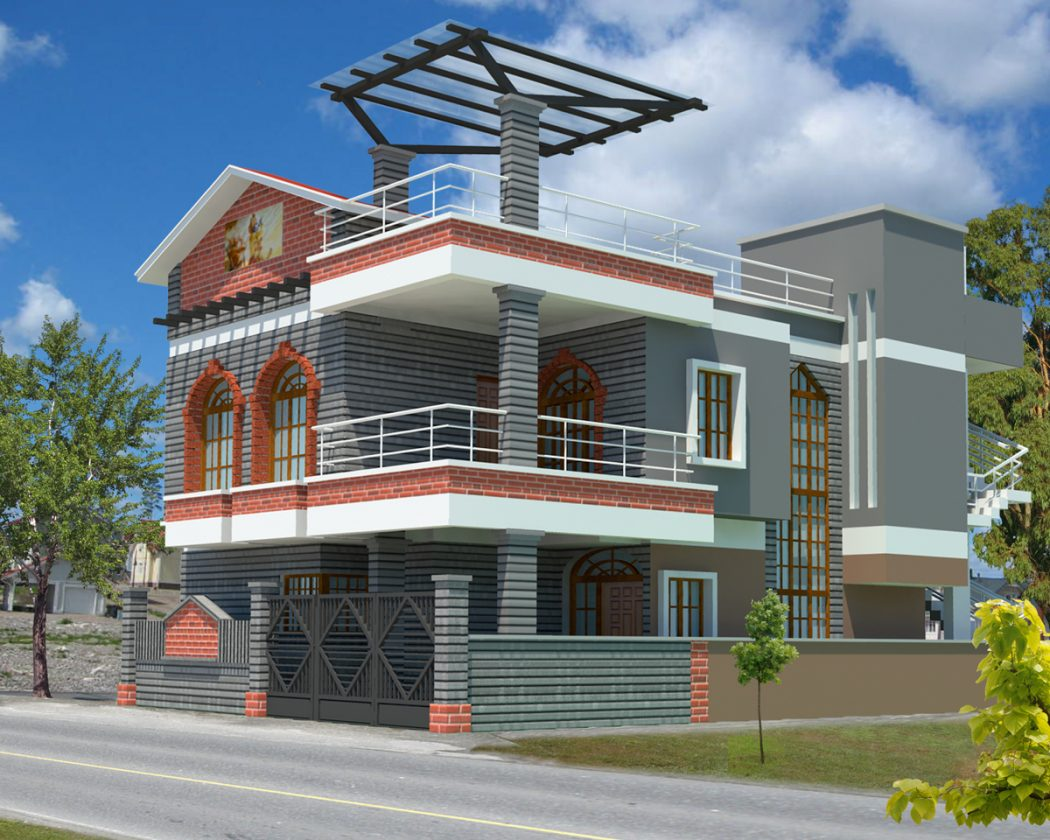 House-Exterior-3D-Model1 Top 3D Architecture Modeling