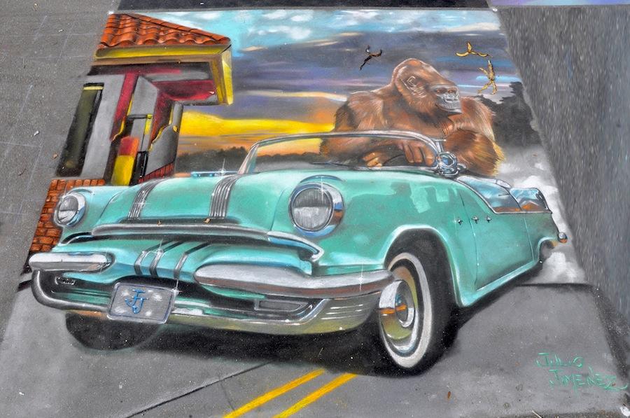 Julios-Jimenez-California-12-x-12-Original-by-Artist-Sarasota-Chalk-Festival-2011 25 Strangest Wall Paintings