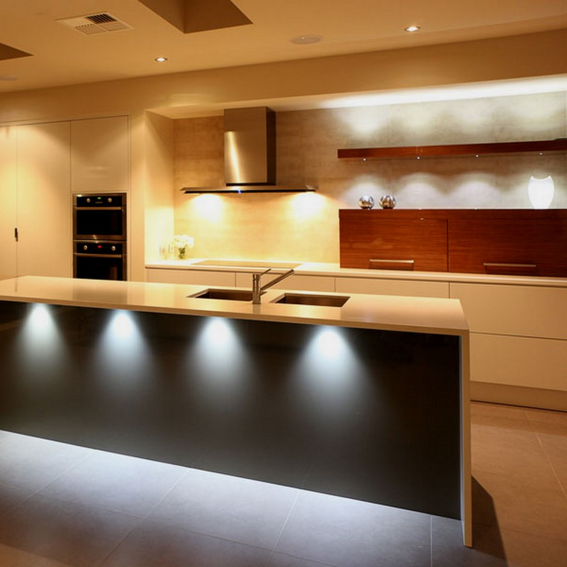 LED-lighting-in-the-contemporary-kitchen LEDs 10 uses in Architecture