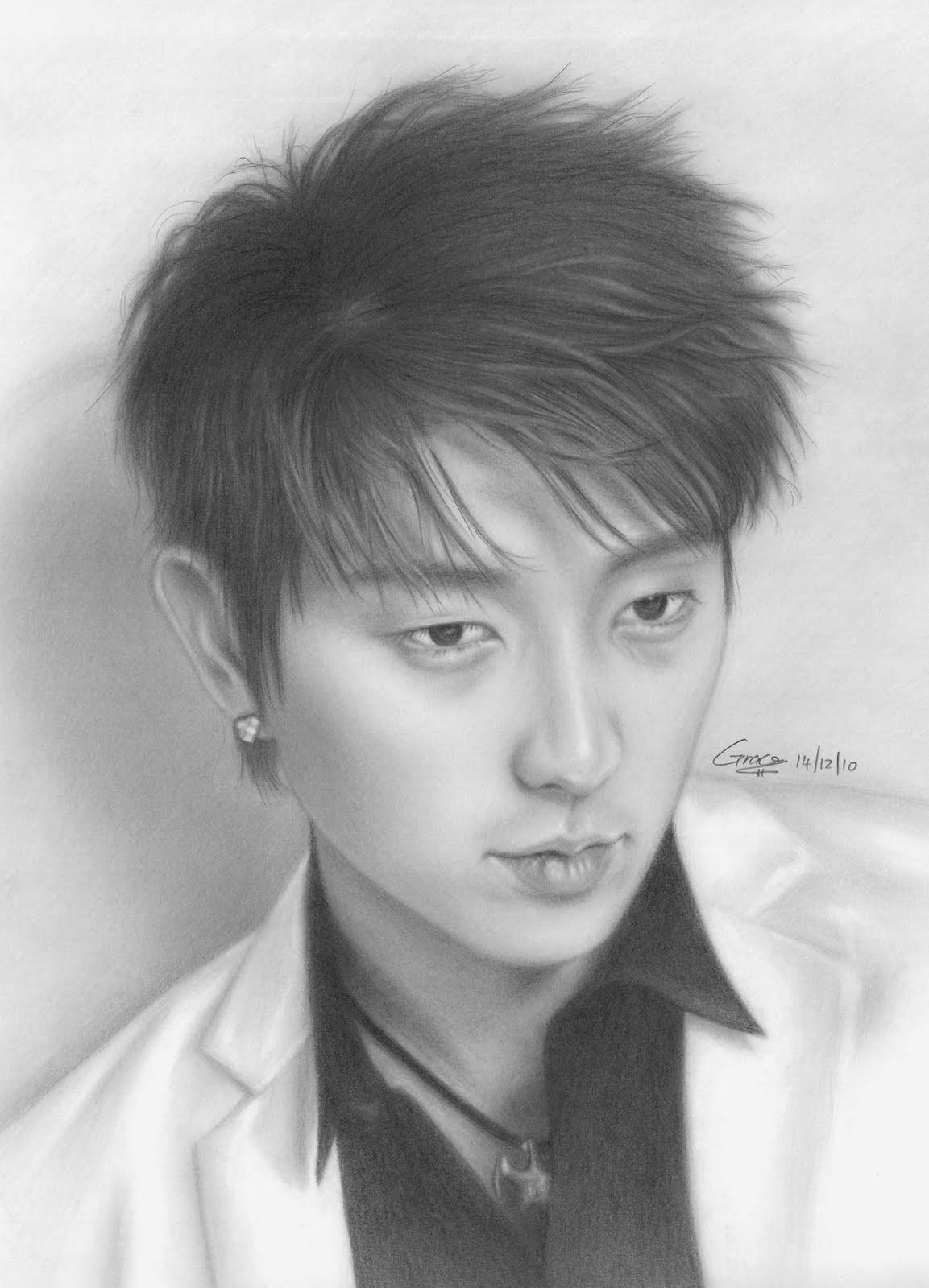 Lee-Jun-Ki Stunningly And Incredibly Realistic Pencil Portraits