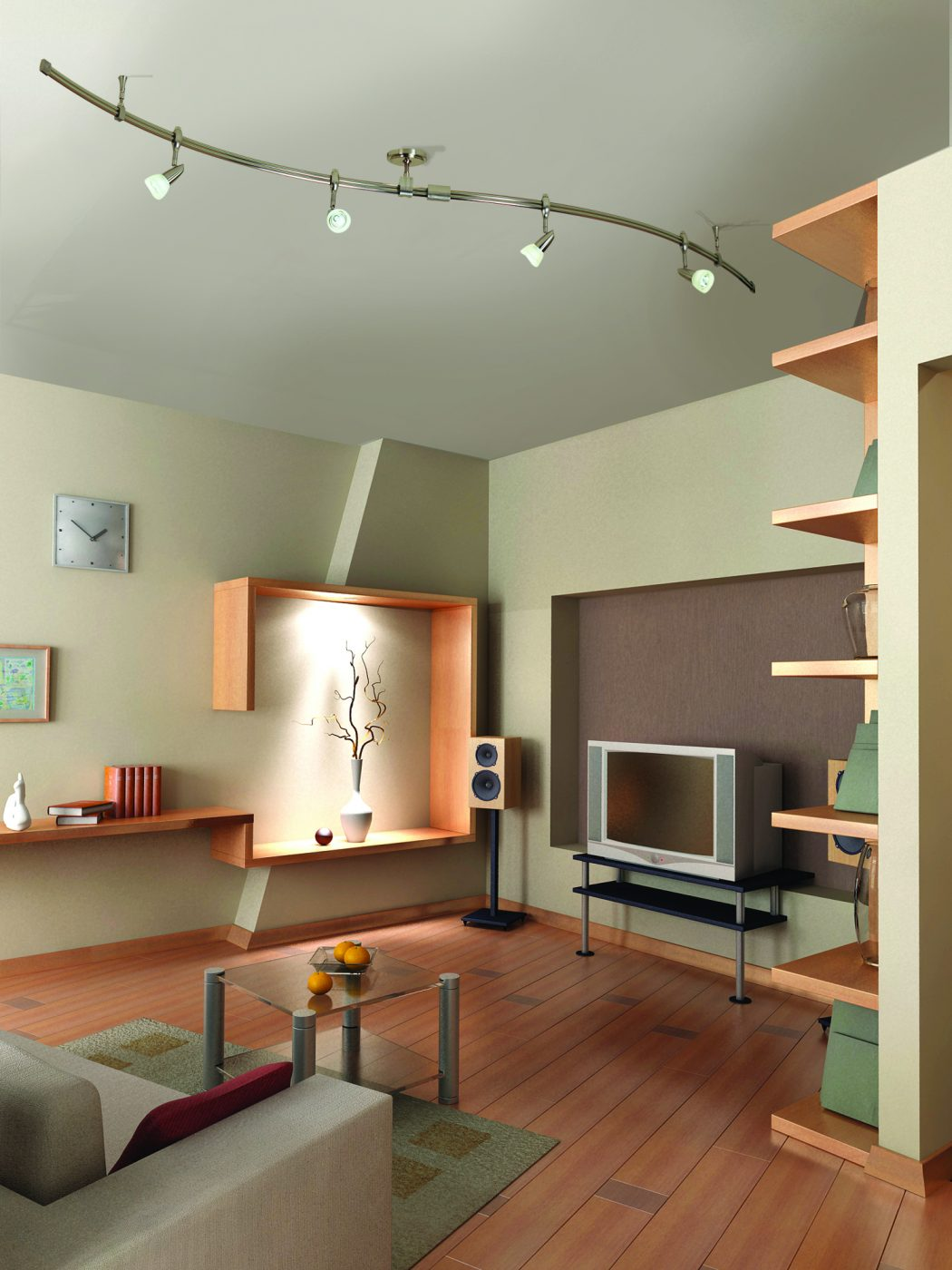 Livingroom-w_Mirage_Rail_Kit Creative 10 Ideas for Residential Lighting