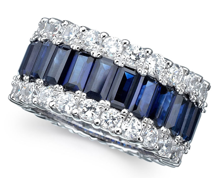 Luxury-Elegant-Sumptuous-Sapphire-Jewelry-Design-of-Baguette-Cut-Cake-Ring-for-Gift-Ideas-by-CRISLU-Jewelry-Los-Angeles1 The Best Jewelry Pieces That Women Like