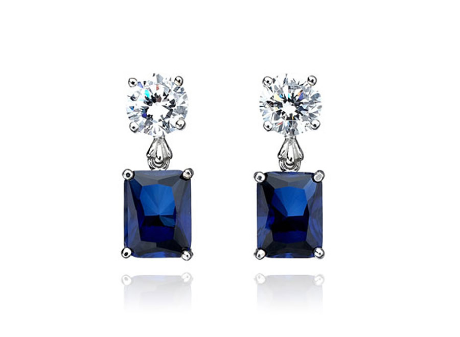 Luxury-Elegant-Sumptuous-Sapphire-Jewelry-Design-of-Emerald-Cut-Earrings-for-Gift-Ideas-by-CRISLU-Jewelry-Los-Angeles The Best Jewelry Pieces That Women Like