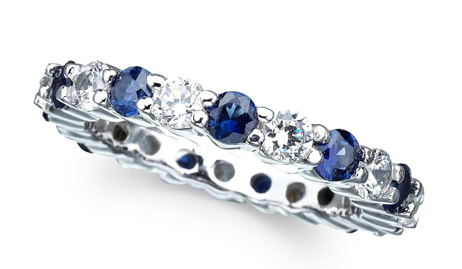 Luxury-Elegant-Sumptuous-Sapphire-Jewelry-Design-of-Eternity-Band-Ring-for-Gift-Ideas-by-CRISLU-Jewelry-Los-Angeles1 The Best Jewelry Pieces That Women Like