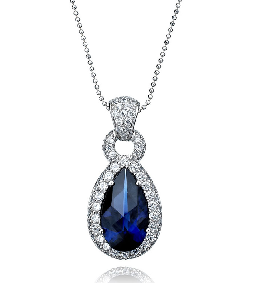 Luxury-Elegant-Sumptuous-Sapphire-Jewelry-Design-of-Pear-Pendant-for-Gift-Ideas-by-CRISLU-Jewelry-Los-Angeles The Best Jewelry Pieces That Women Like