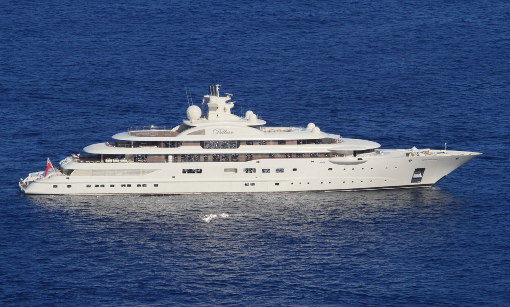 MYDilbar10001 15 Most luxurious Yachts in The World