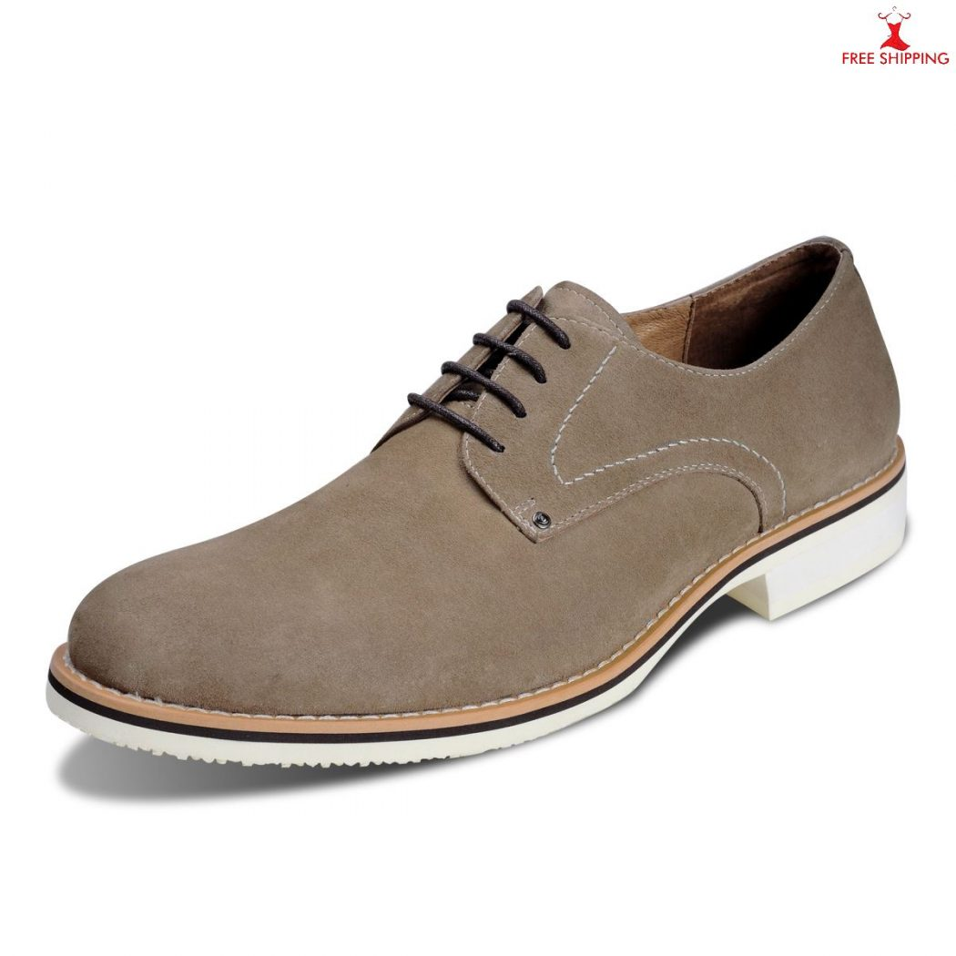 mens casual shoes 2013 laced oxford suede khaki