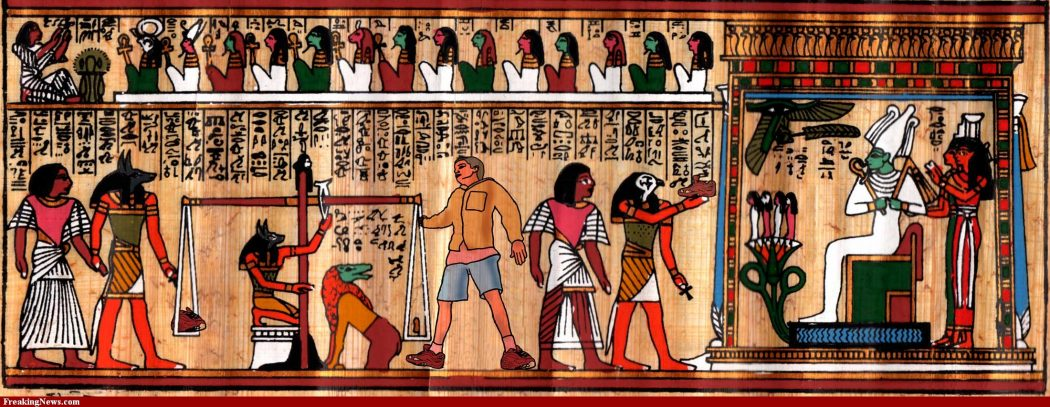 Modern-Boy-in-Egyptian-Wall-Painting-72800 25 Strangest Wall Paintings