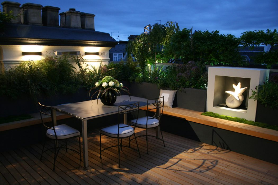 Modern-Roof-Garden-Design Decorating The Roof To Look Like A Paradise