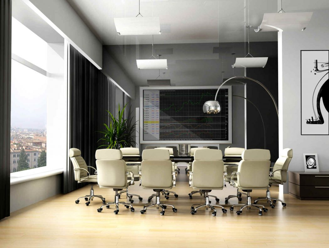 Modern-office-décor-7 The Most Inspiring Office Decoration Designs