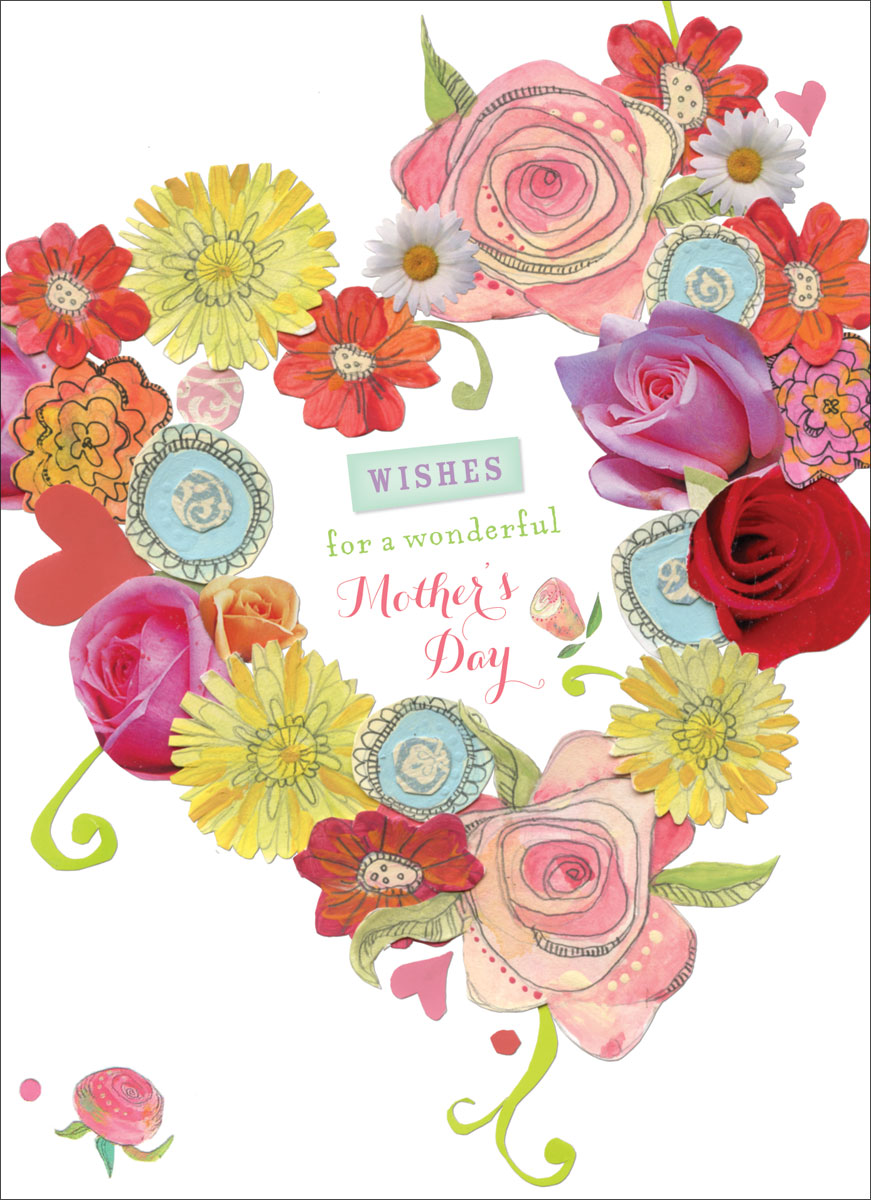 NW33M-madison-park-greetings-group-nancy-honan-wallace-mothers-day-greeting-card-flower-heart-wishes-collage Show your Love To Your Mum With Mother's Day Greeting Cards