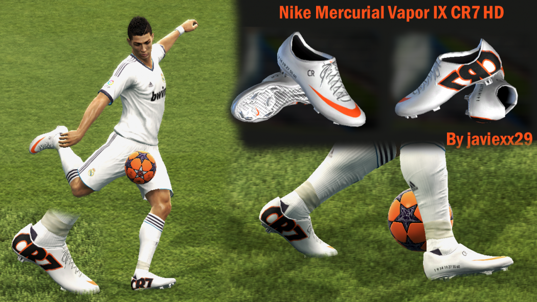PES-2013-Nike-Mercurial-Vapor-IX-CR7-HD-Boots-by-Javiexx29 The Most Stylish Nike Shoes For Men