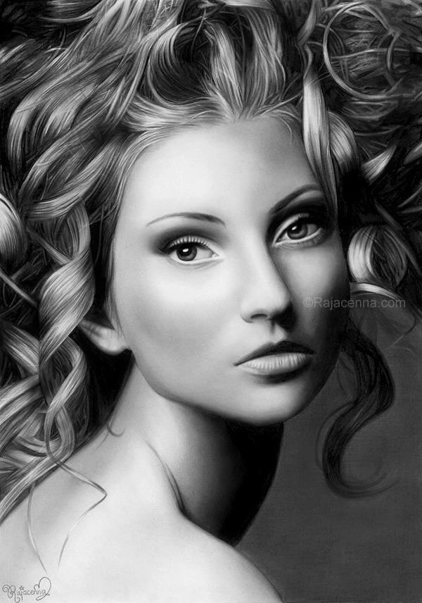 Pencil-Portraits-Drawings-by-Rajacenna-9 Stunningly And Incredibly Realistic Pencil Portraits