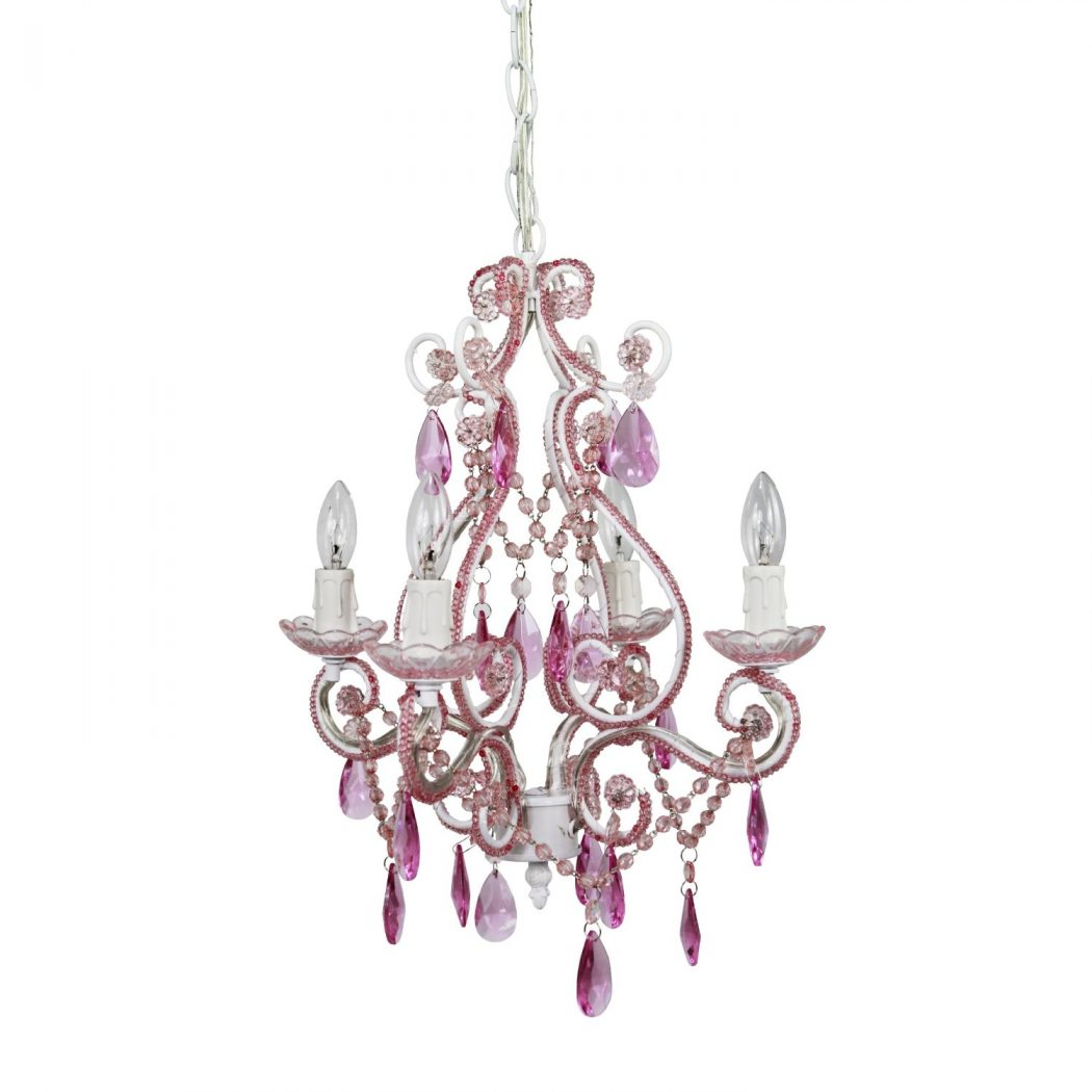 Pink-Chandelier Creative 10 Ideas for Residential Lighting