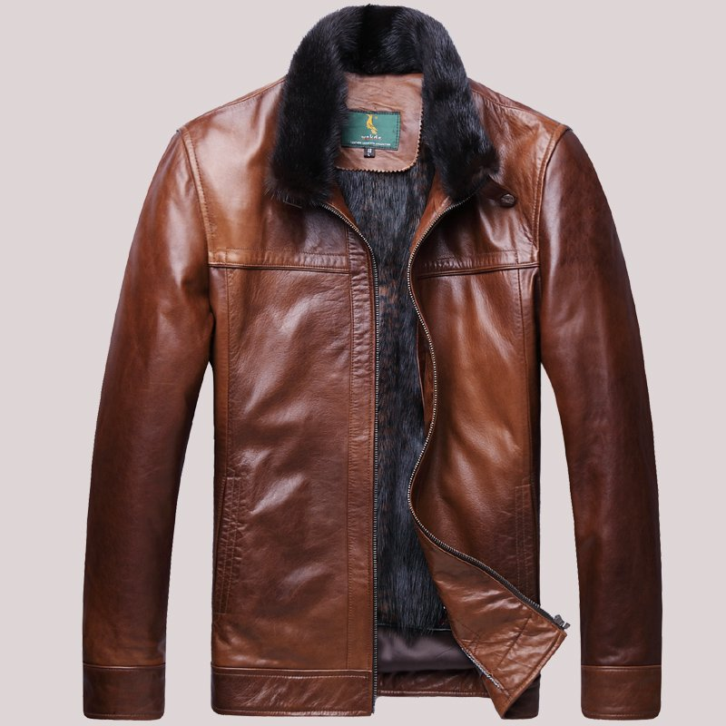 Products-For-2013-Christmas-font-b-Men-s-b-font-Genuine-Sheepskin-font-b-Leather-b To Buy The Best Leather Jacket For Men, Just Follow These 6 Steps