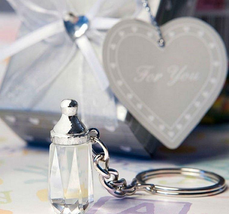 SJ010-Choice-Crystal-Collection-baby-bottle-design-key-chain-favors-50pcs-lot-Wedding-Favor-Wedding-Gift 20 unique wedding giveaways ideas