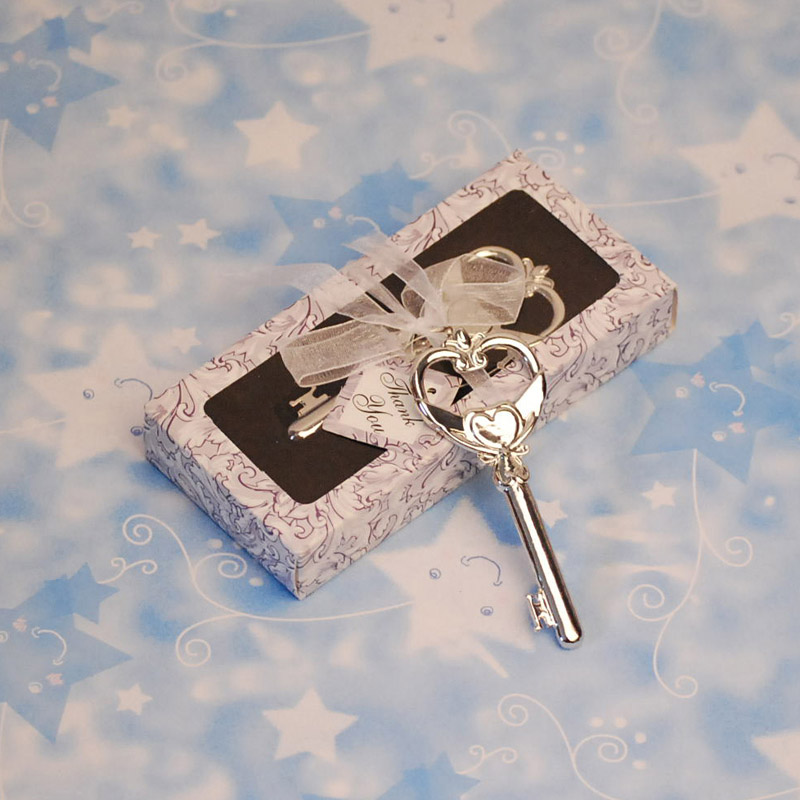 Silver-Key-Shaped-Bottle-Opener-for-Wedding-Gift-Purpose 20 unique wedding giveaways ideas