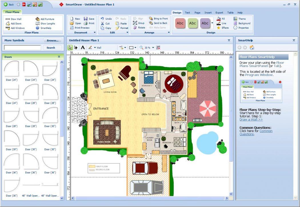 SmartDraw-Floor-Plan-238K-floorplan Top 15 Virtual Room software tools and Programs