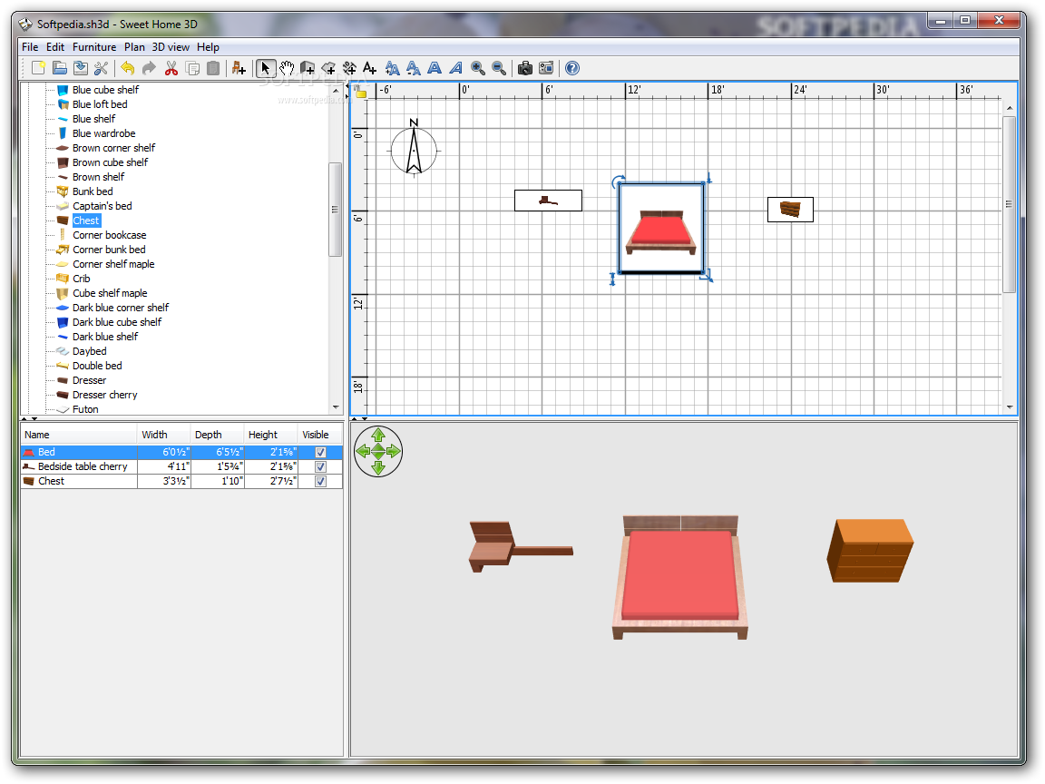 Sweet-Home-3D-Portable_1 Top 15 Virtual Room software tools and Programs