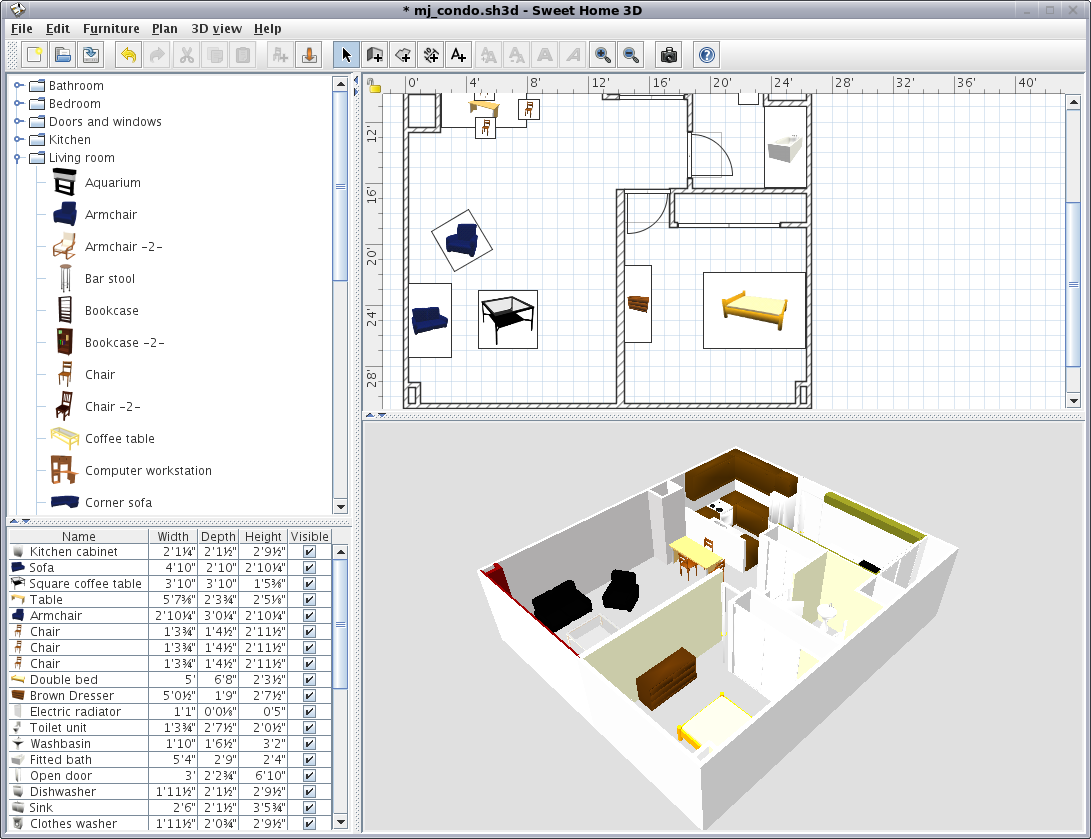 Sweet-Home-3D Top 15 Virtual Room software tools and Programs