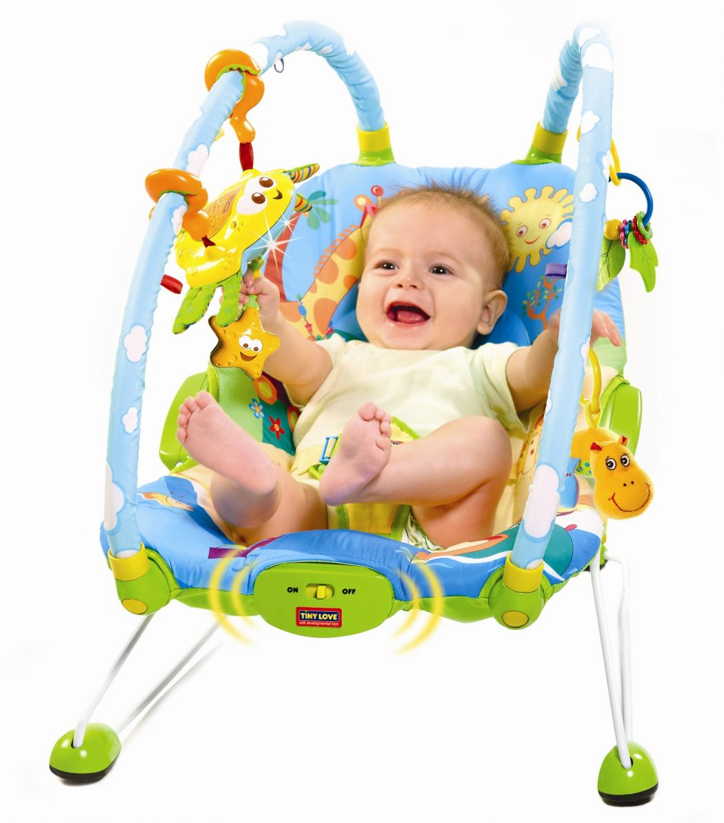 Tiny-Love-Gymini-Bouncer-w-baby-2 Best 25 Baby Shower Gifts