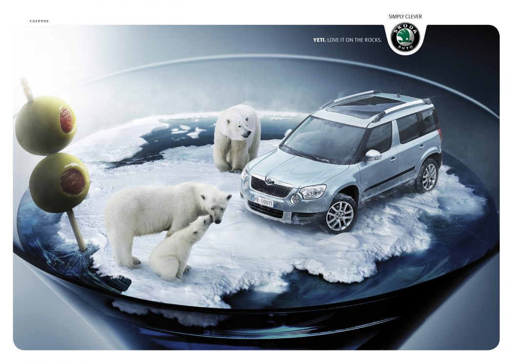 Yeti-Cocktail-o 40 Most Creative and Dazzling Auto Ads