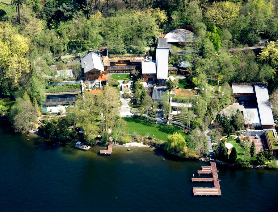 aerial-view-of-bill-gates-house Top 15 Most Expensive Celebrity Homes