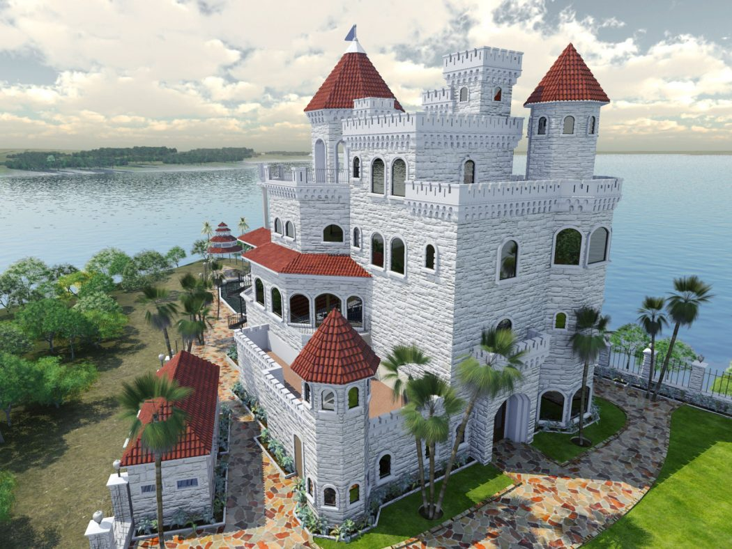 architectural-rendering-TX-castle Top 3D Architecture Modeling