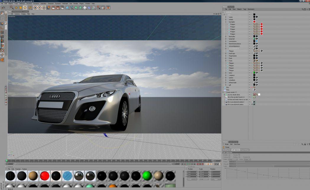 audi-c4d-vray Top 15 3D Design Software