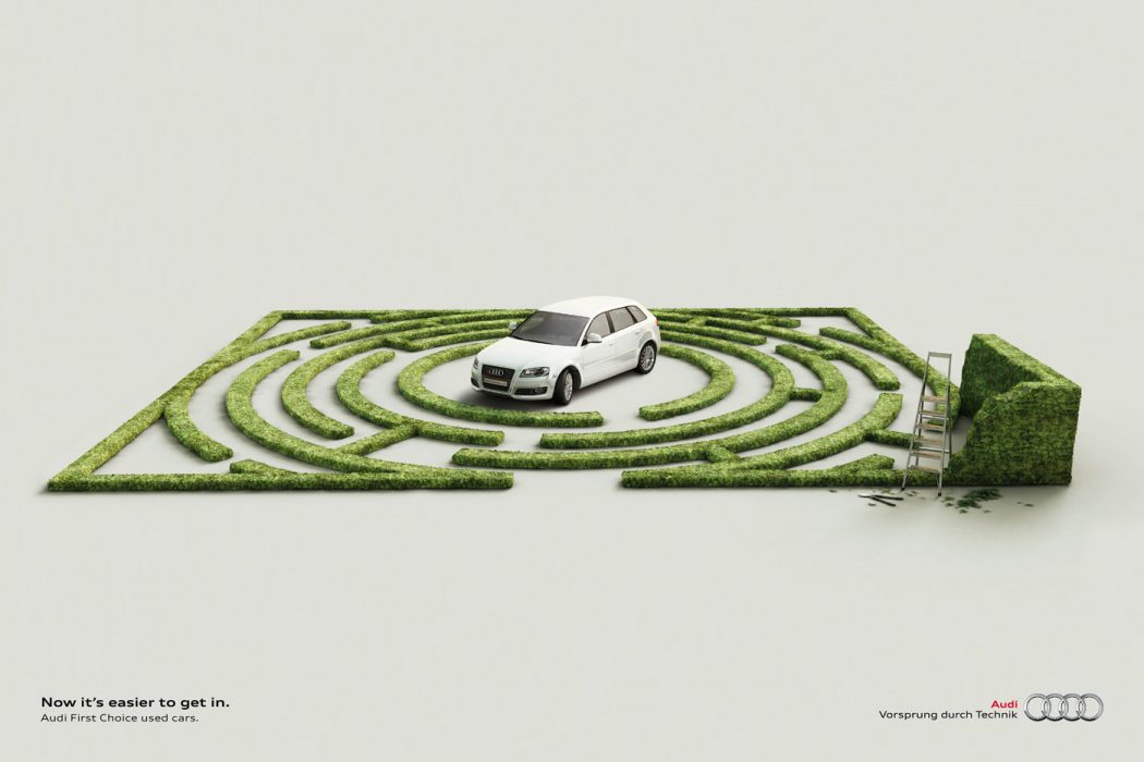 audi_labyrinth_0 40 Most Creative and Dazzling Auto Ads