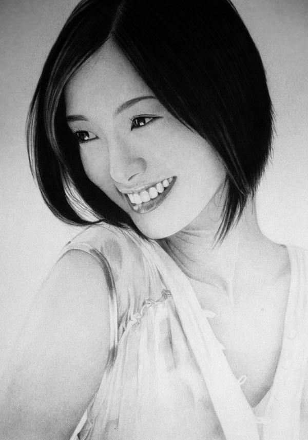 aya_ueto___kawaii_by__ken_lee Stunningly And Incredibly Realistic Pencil Portraits