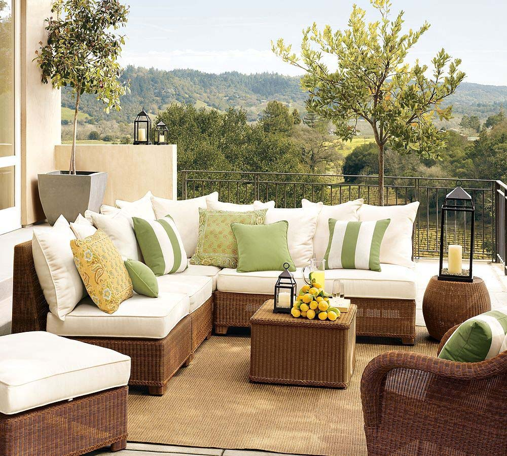 balcony-sofa-furniture-by-pottery-barn How Do You Choose Your Balcony Furniture?