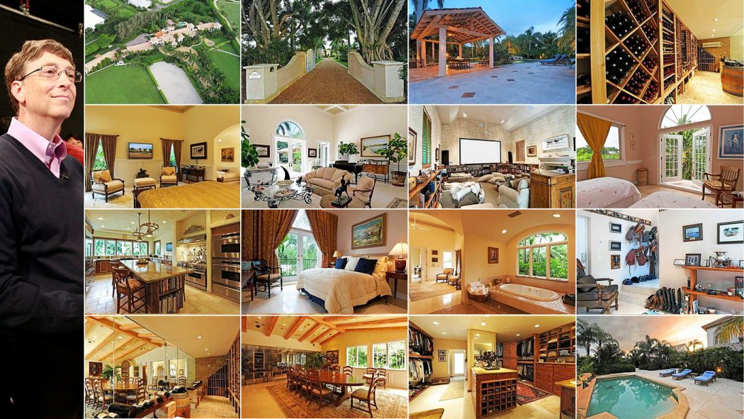 bill_gates Top 15 Most Expensive Celebrity Homes