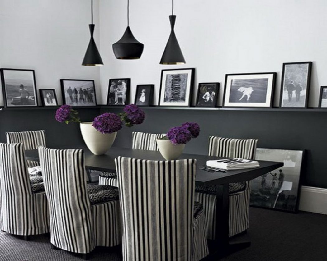 black-and-white-dining-areas-beautiful-design 25 Elegant Black And White Dining Room Designs