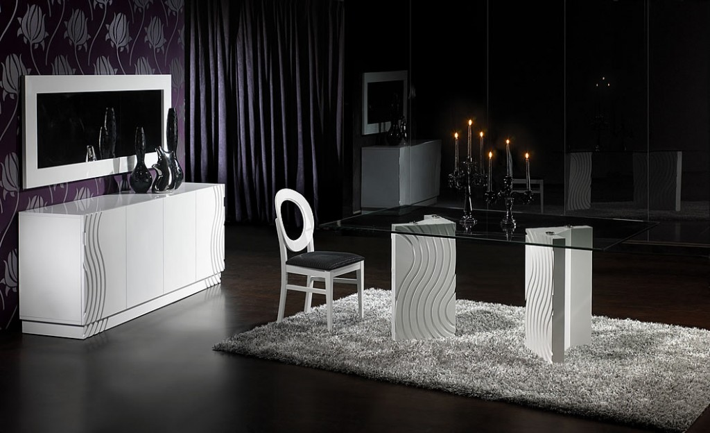 black and white dining room decor 1024 624 image. Black Bedroom Furniture Sets. Home Design Ideas