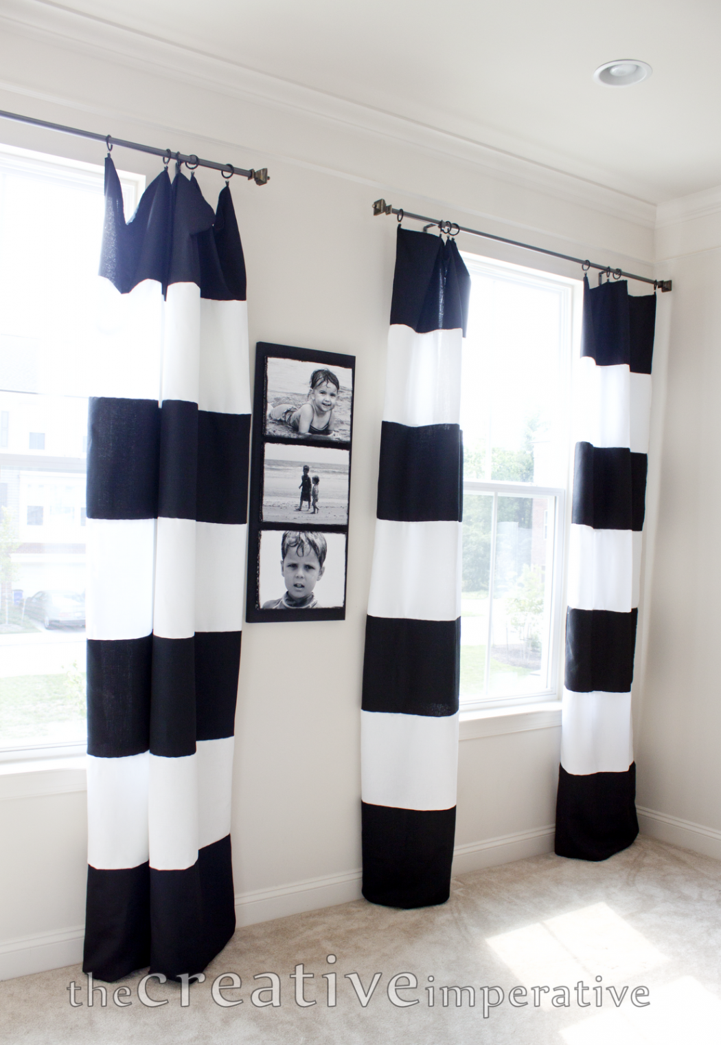 black-and-white-walmart-tablecloths-sew-into-curtains 25 Elegant Black And White Dining Room Designs