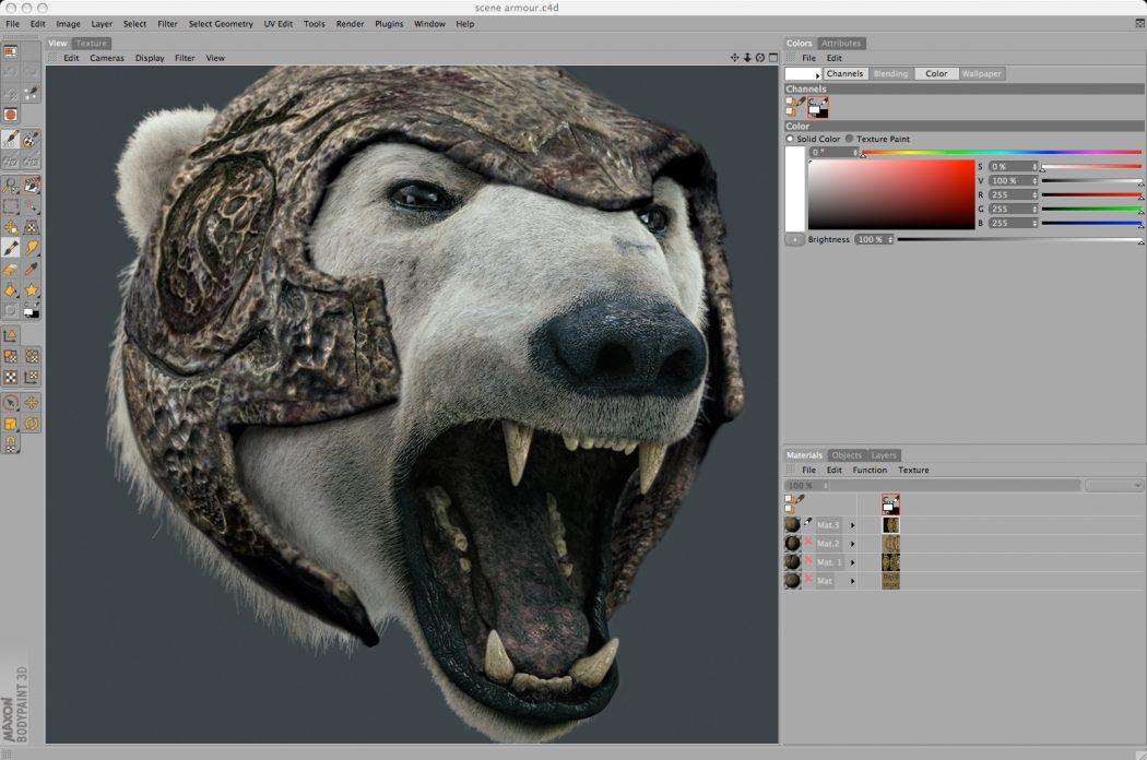 body-paint Top 15 3D Design Software