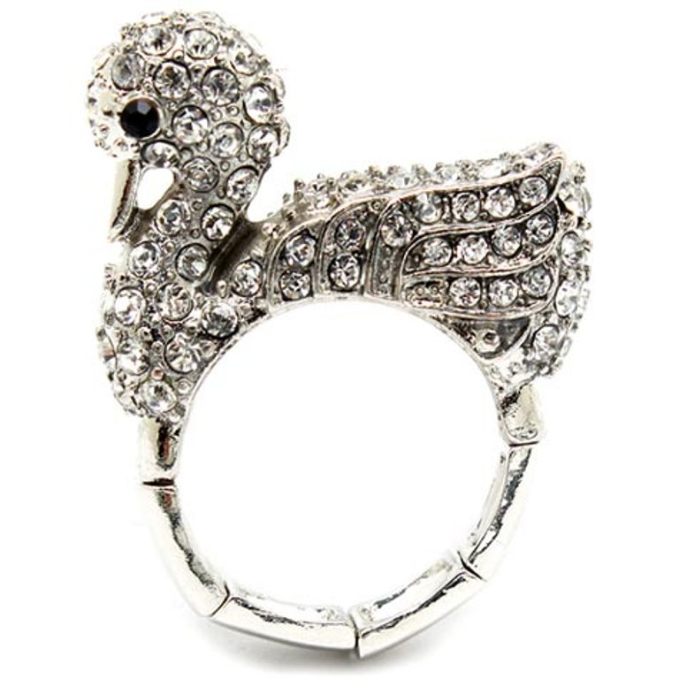 charis-fine-silver-imitation-diamond-swan-cocktail-ring-final-sale Best 30 Inspiring Jewelry Designs