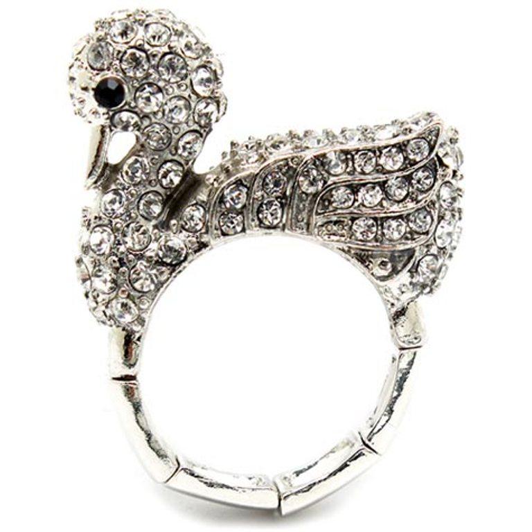 charis-fine-silver-imitation-diamond-swan-cocktail-ring-final-sale Best 30 Inspiring Jewelry Designs
