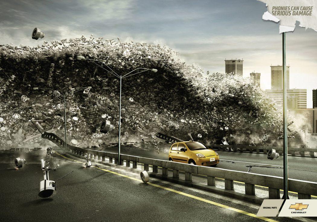 chevrolettsunami 40 Most Creative and Dazzling Auto Ads
