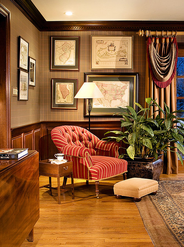 classic-office-with-old-maps-on-the-walls The Most Inspiring Office Decoration Designs